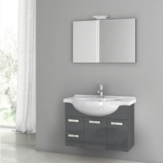 Bathroom Vanity 32 Inch Bathroom Vanity Set ACF PH01-Glossy Anthracite