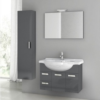 Bathroom Vanity 32 Inch Bathroom Vanity Set ACF PH05-Glossy Anthracite