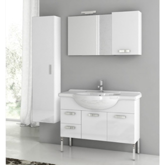 Bathroom Vanity 39 Inch Bathroom Vanity Set ACF PH07-Glossy White