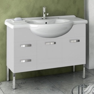 Bathroom Vanity 39 Inch Vanity Cabinet With Fitted Sink ACF PH10-Glossy White