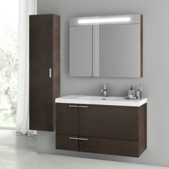 Bathroom Vanity 39 Inch Wenge Bathroom Vanity Set ACF ANS184