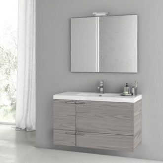 Bathroom Vanity 39 Inch Grey Walnut Bathroom Vanity Set ACF ANS1434