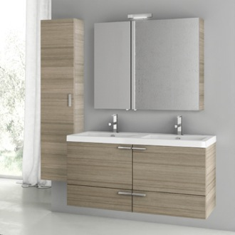 Bathroom Vanity 47 Inch Larch Canapa Bathroom Vanity Set ACF ANS196