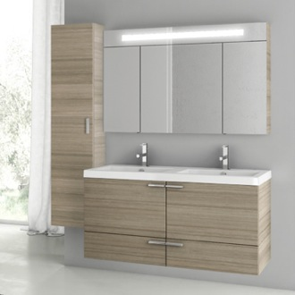 Bathroom Vanity 47 Inch Larch Canapa Bathroom Vanity Set ACF ANS195