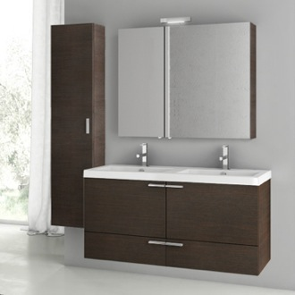 Bathroom Vanity 47 Inch Wenge Bathroom Vanity Set ACF ANS200
