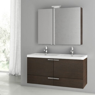 Bathroom Vanity 47 Inch Wenge Bathroom Vanity Set ACF ANS198