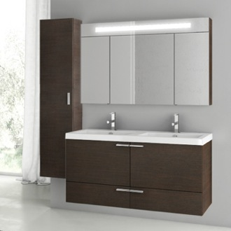 Bathroom Vanity 47 Inch Wenge Bathroom Vanity Set ACF ANS199