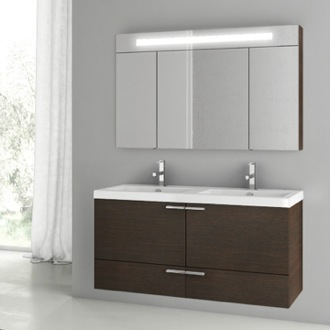 Bathroom Vanity 47 Inch Wenge Bathroom Vanity Set ACF ANS197