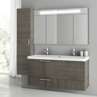 Bathroom Vanity 47 Inch Grey Oak Bathroom Vanity Set ACF ANS206