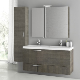 Bathroom Vanity 47 Inch Grey Oak Bathroom Vanity Set ACF ANS207