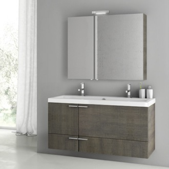 Bathroom Vanity 47 Inch Grey Oak Bathroom Vanity Set ACF ANS205