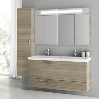 Bathroom Vanity 47 Inch Larch Canapa Bathroom Vanity Set ACF ANS210