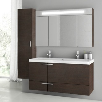 Bathroom Vanity 47 Inch Wenge Bathroom Vanity Set ACF ANS214