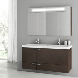 Bathroom Vanity 47 Inch Wenge Bathroom Vanity Set ACF ANS212