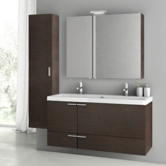 Bathroom Vanity 47 Inch Wenge Bathroom Vanity Set ACF ANS215