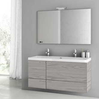 Bathroom Vanity 47 Inch Grey Walnut Bathroom Vanity Set ACF ANS1401
