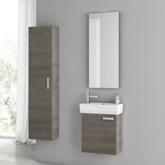 Bathroom Vanity 18 Inch Grey Oak Bathroom Vanity Set ACF C26
