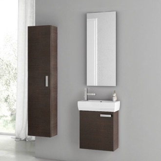 Bathroom Vanity 18 Inch Wenge Bathroom Vanity Set ACF C29