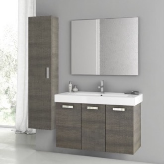 Bathroom Vanity 39 Inch Grey Oak Bathroom Vanity Set ACF C47