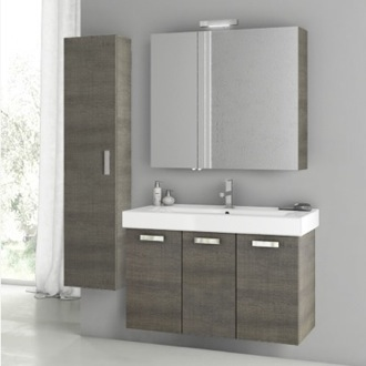Bathroom Vanity 39 Inch Grey Oak Bathroom Vanity Set ACF C83