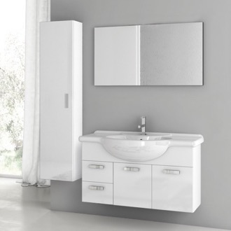 Bathroom Vanity 39 Inch Glossy White Bathroom Vanity Set ACF PH18