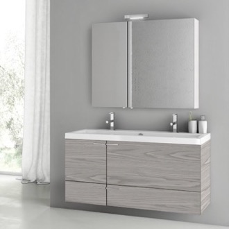 Bathroom Vanity 47 Inch Grey Walnut Bathroom Vanity Set ACF ANS1411