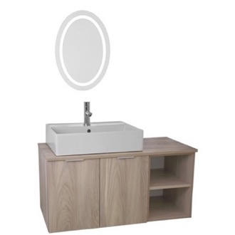 Bathroom Vanity 41 Inch Light Yosemite Wall Mounted Bathroom Vanity Set, Lighted Vanity Mirror Included ARCOM ES10