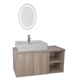 Bathroom Vanity 41 Inch Light Yosemite Wall Mounted Bathroom Vanity Set, Lighted Vanity Mirror Included ARCOM ES18
