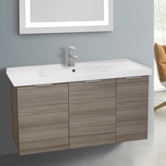 Bathroom Vanity 39 Inch Wall Mount Larch Canapa Cabinet With Ed Sink Arcom Lam01