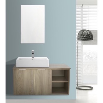 Bathroom Vanity 41 Inch Light Yosemite Wall Mounted Bathroom Vanity Set, Vanity Mirror Included ARCOM ES03