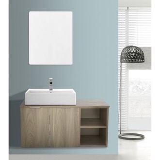 Bathroom Vanity 41 Inch Light Yosemite Wall Mounted Bathroom Vanity Set, Vanity Mirror Included ARCOM ES05