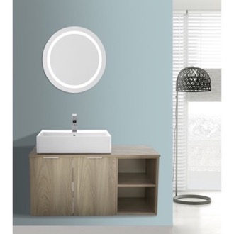 Bathroom Vanity 41 Inch Light Yosemite Wall Mounted Bathroom Vanity Set, Lighted Vanity Mirror Included ARCOM ES09