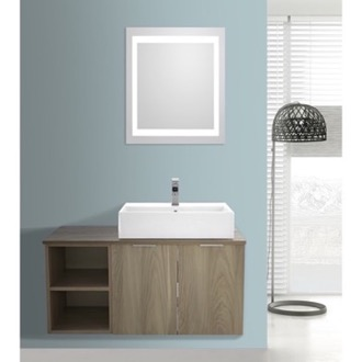 Bathroom Vanity 41 Inch Light Yosemite Wall Mounted Bathroom Vanity Set, Lighted Vanity Mirror Included ARCOM ES25
