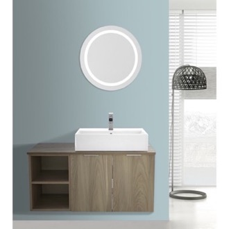 Bathroom Vanity 41 Inch Light Yosemite Wall Mounted Bathroom Vanity Set, Lighted Vanity Mirror Included ARCOM ES27