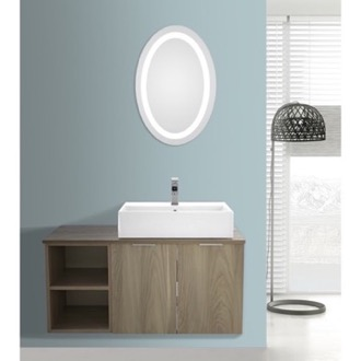 Bathroom Vanity 41 Inch Light Yosemite Wall Mounted Bathroom Vanity Set, Lighted Vanity Mirror Included ARCOM ES29