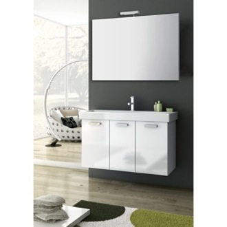 Bathroom Vanity 39 Inch Glossy White Bathroom Vanity Set ACF C45