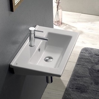 Bathroom Sink Rectangular White Ceramic Bathroom Sink CeraStyle 067300-U