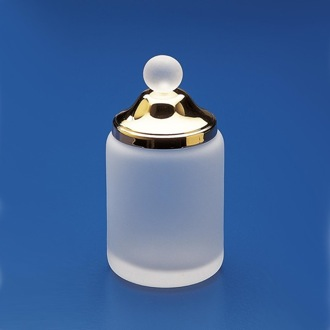 Bathroom Jar Frosted Glass Cotton Swab Jar Windisch 88113MD