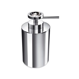 Soap Dispenser Round Brass Soap Dispenser With White Swarovski Crystal Windisch 90503B