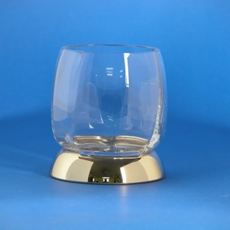 Toothbrush Holder Rounded Clear Crystal Glass Tumbler Windisch 94475D