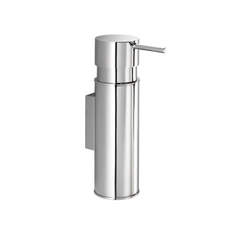 Soap Dispenser Wall Mounted Round Chrome Soap Dispenser Gedy 2086