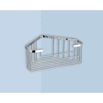 Shower Basket Wire Corner Shower Basket Gedy 2483