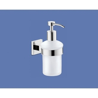 Soap Dispenser Wall Mounted Frosted Glass Soap Dispenser Gedy 2881-13