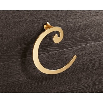 Towel Ring Gold Towel Ring Crescent Shape Gedy 3370-87
