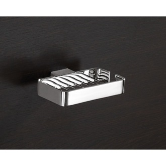 Shower Soap Holder Wall Mounted Square Chrome Wire Gedy 5412 13