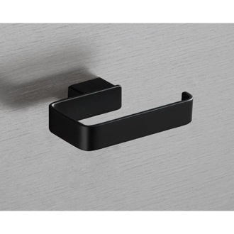 Toilet Paper Holder Square Matte Black Toilet Roll Holder Gedy 5424-M4
