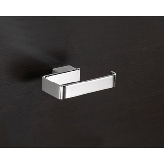 Toilet Paper Holder Square Polished Chrome Toilet Roll Holder Gedy 5424-13