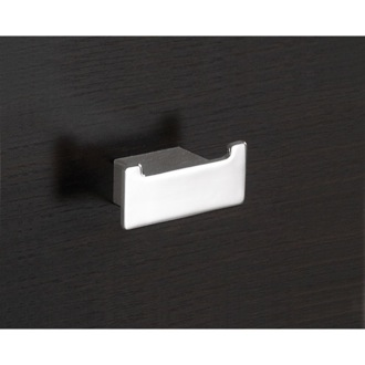 Bathroom Hook Square Polished Chrome Double Hook Gedy 5426-13