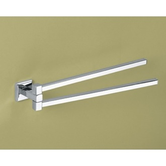 Swivel Towel Bar 14 Inch Polished Chrome Double Swivel Towel Bar Gedy 6923-13