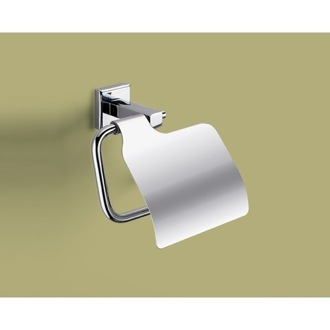 Toilet Paper Holder Polished Chrome Toilet Roll Holder With Cover Gedy 6925-13
